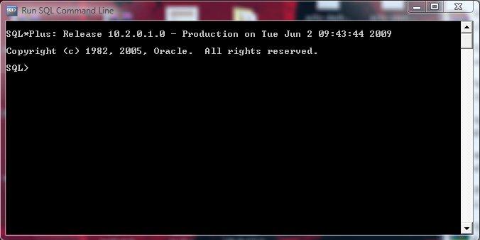 SQL Command Line